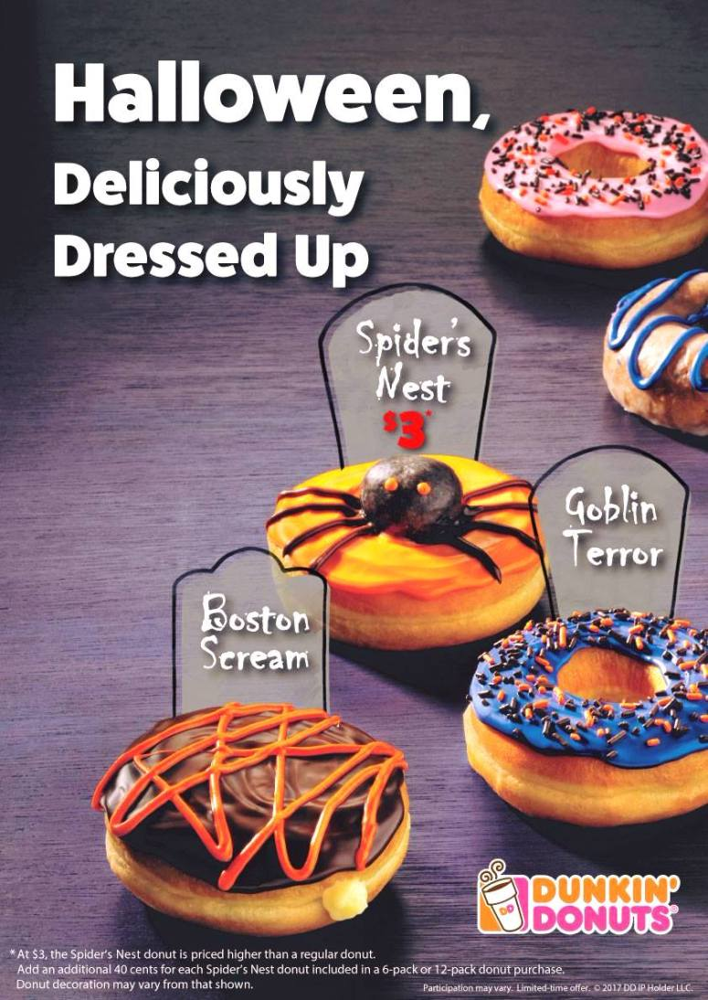 How to make spider donut Halloween party treats! Take donuts and donut holes, frost them and add eyes to make adorable spider treats that are SO good!
