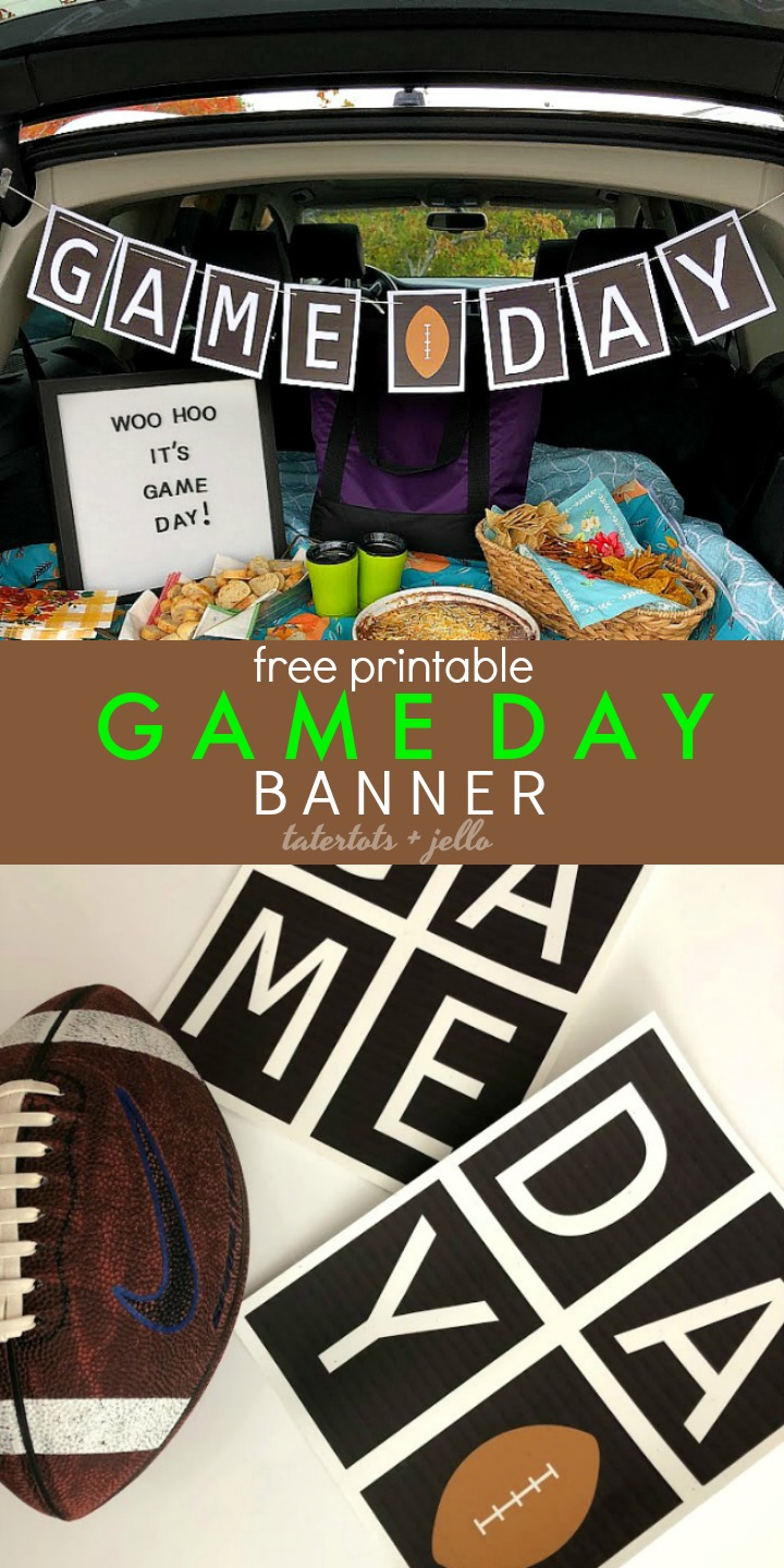 picture regarding Printable Football Pictures named Totally free Printable Sport Working day tailgating Soccer Banner