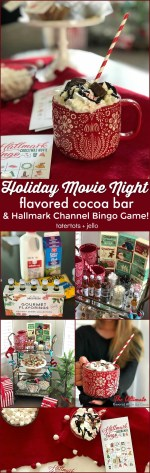 Holiday Movie Party, Flavored Hot Cocoa Bar and Hallmark Channel Movie Bingo Game!
