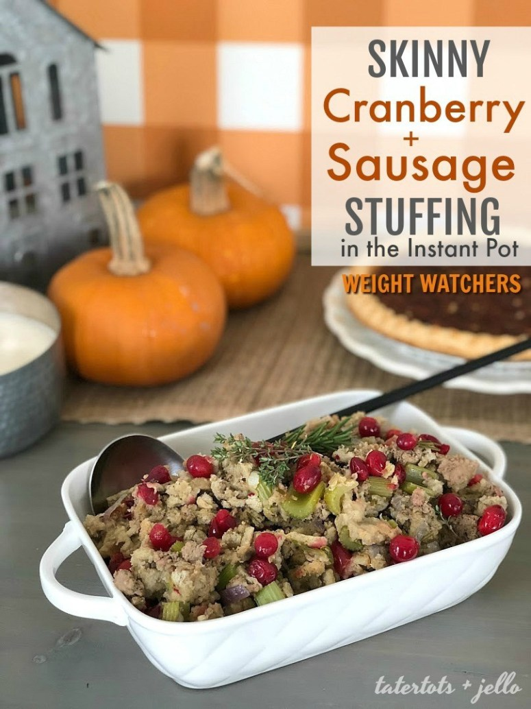 Weight Watchers Skinny Cranberry and Sausage Stuffing