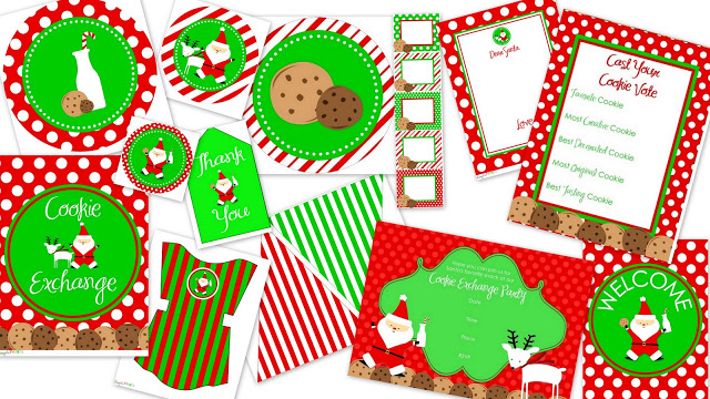 free holiday cookie exchange printables