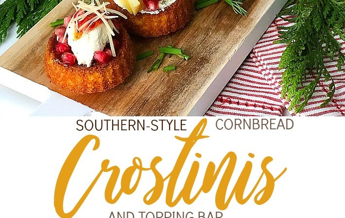New Holiday Appetizer — Southern-Style Cornbread Crostinis with Topping Bar!