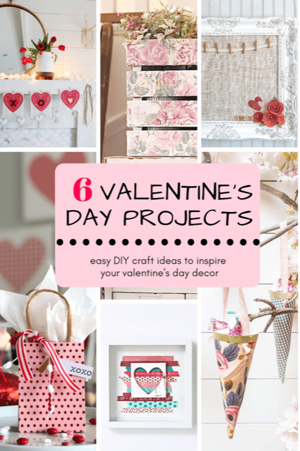 Simple Valentine's Day Gift Ideas with Free Typewriter Printable Sayings. Create easy gifts or party favors with three main ingredients -- paper, ribbon and washi tape. Fill with treats and give these simple gifts for Valentine's Day this year!