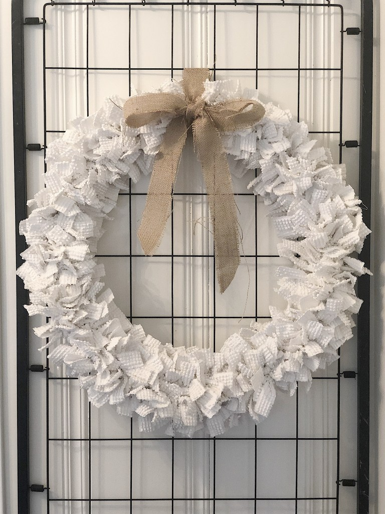 Winter Chenille wreath tutorial