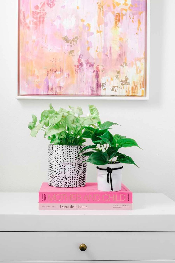 painted canvas pots DIY Modern Glam