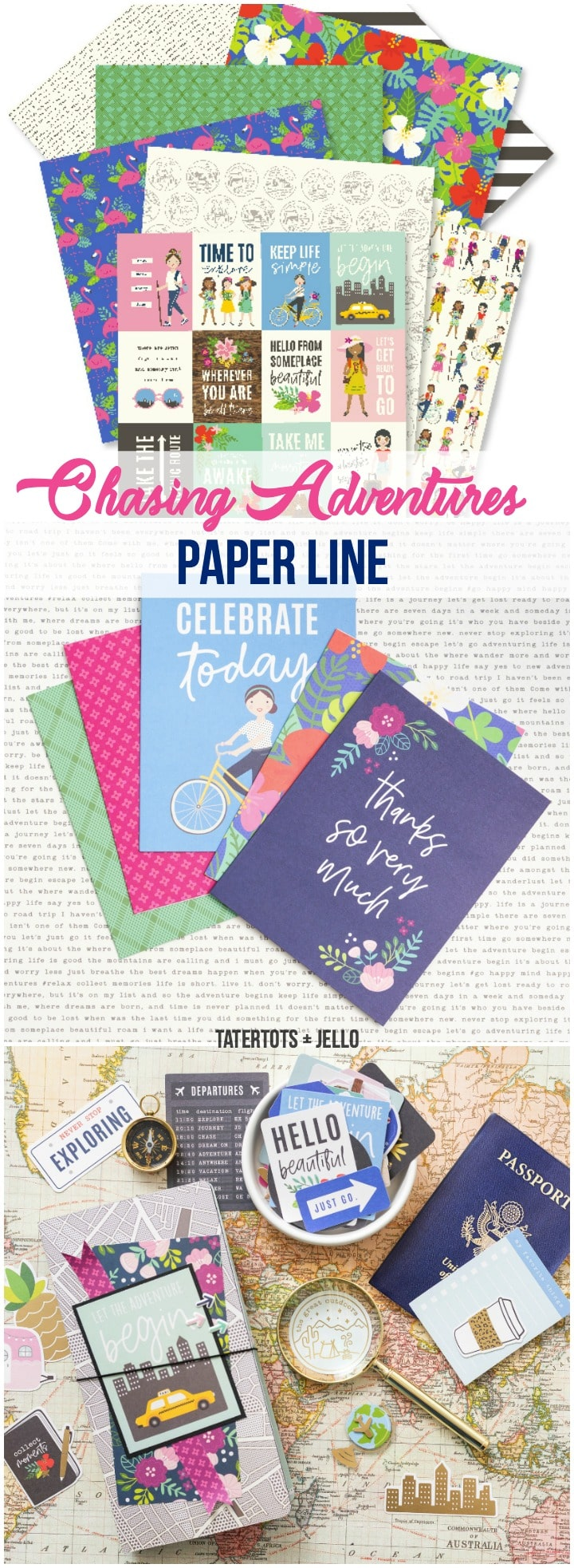 Jen Hadfield Pebbles Chasing Adventures paper line! So many ways to document adventures with your family and friends - whether it's overseas or in your own backyard! Document those moments!!