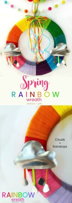 Make a Colorful Rainbow Wreath for Spring with free Cloud Templates!