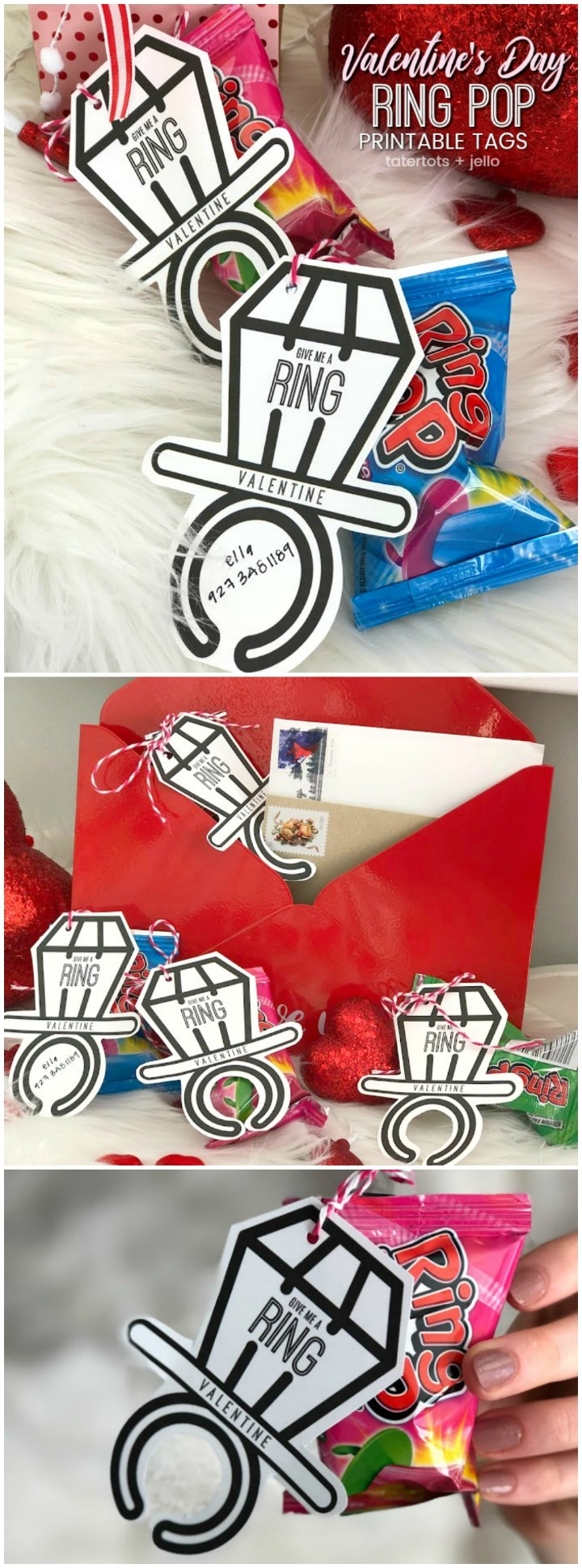 Ring Pop Valentine's Day Tween + Teen Printables. Print these modern and quirky Ring Pop printables and give them out this Valentine's Day.