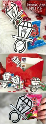 Ring Pop Valentine's Day Tween + Teen Printables