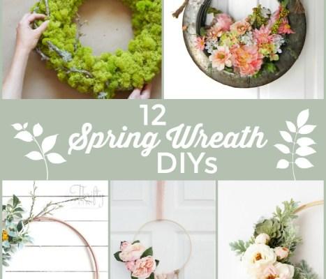 12 GORGEOUS Spring Wreath DIYs!