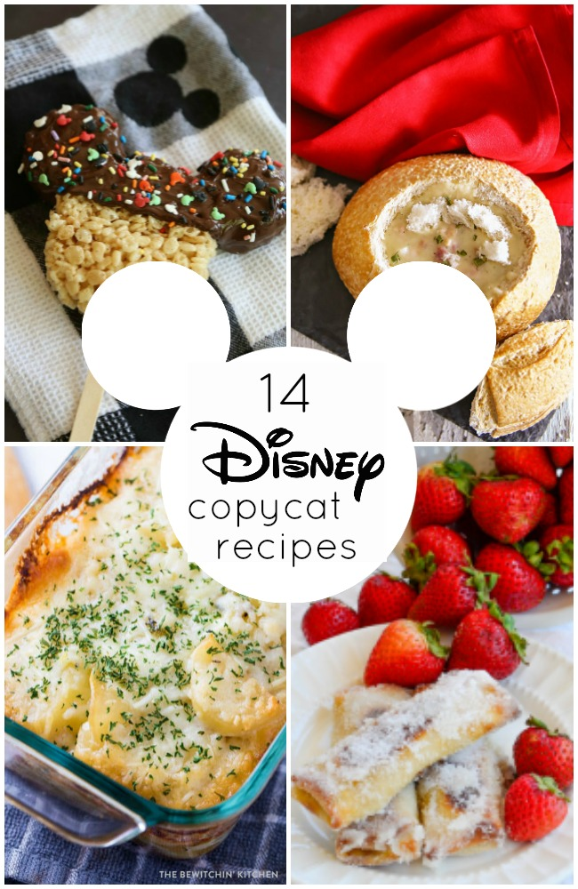 14 AMAZING Disney copycat recipes! Recreate the feeling of Disney with these recipes inspired by the ones served at Disneyland and Walt Disney World!