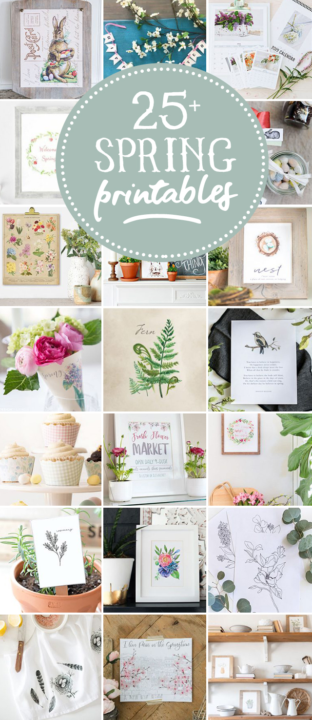 26 FREE Spring Printables for YOU!