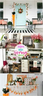 Colorful and Bright Spring Home Tour – Easy DIY Ideas