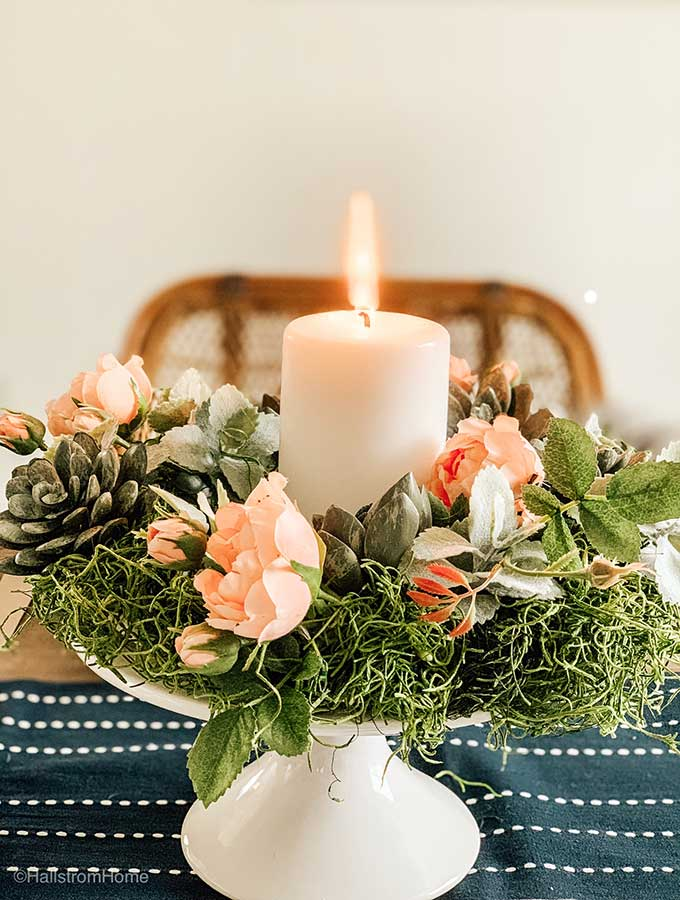 DIY Succulent Wreath with Dollar Spot Items