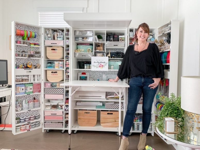 How I store and organize ALL of my craft supplies! I've been blogging at tatertotsandjello.com for 11 years and sharinga new creative tutorial each day.