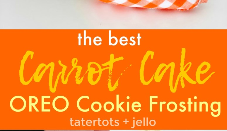 Carrot Cake OREO Buttercream Frosting Recipe