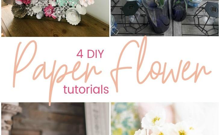 Easy Spring Paper Flower Wall Art