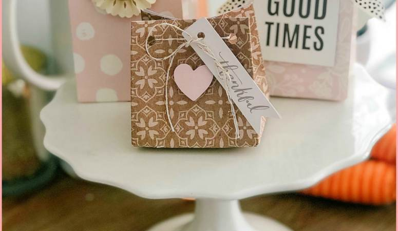 Make  a Custom Gift Bag Out of a Sheet of Scrapbook Paper!