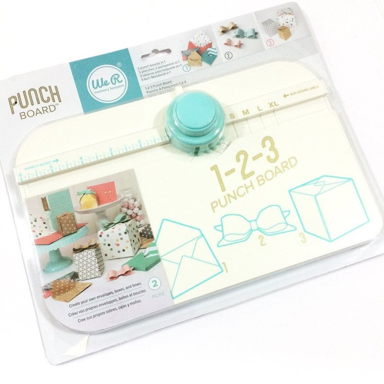 1-2-3 punch board by We-R Memory Keepers to create gift boxes.