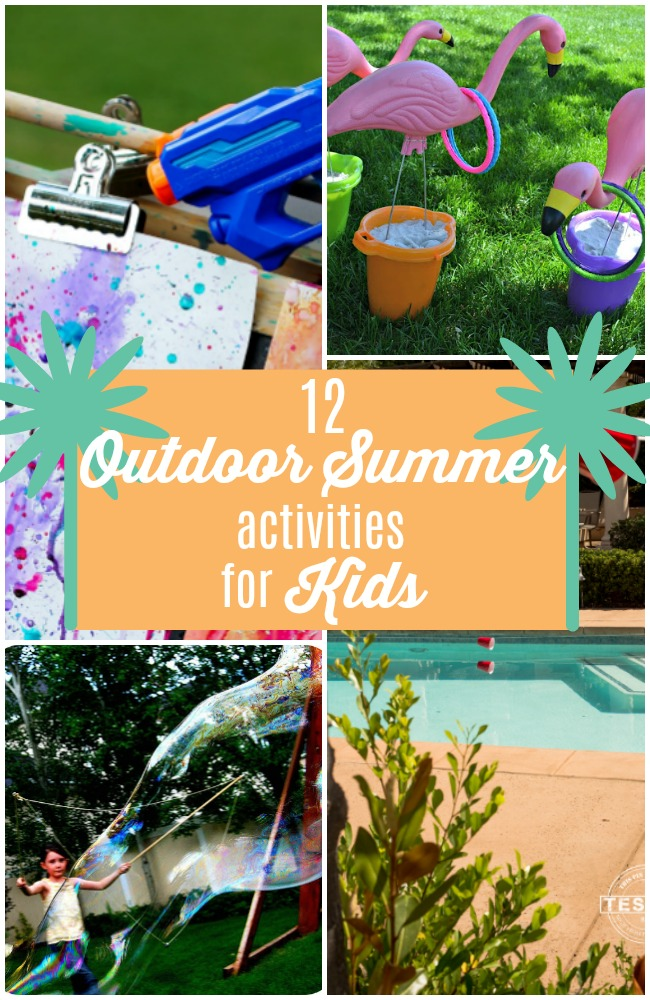 12 Outdoor Summertime Activities for Kids! Keep your kids entertained this Summer with these easy and fun OUTDOOR ideas!