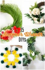 15 Summer Wreath DIYs – for your door, home and parties!