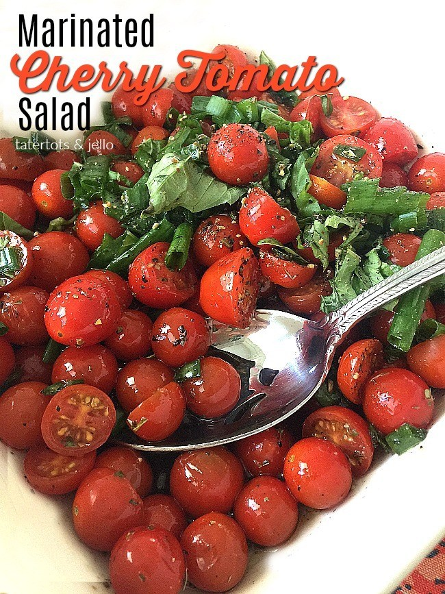 Easy Marinated Cherry Tomato Salad Recipe @ Tatertots & Jello