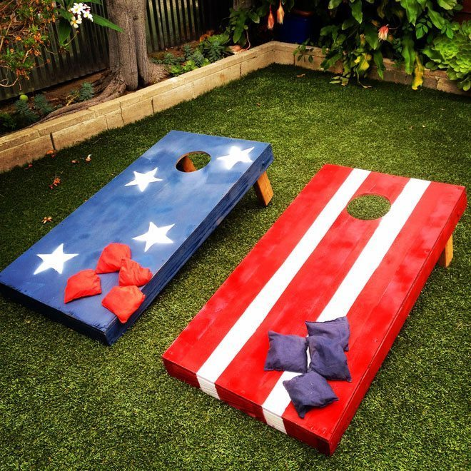 How to Make Stars and Striped Bean Bag Toss Boards @ Charles + Hudson