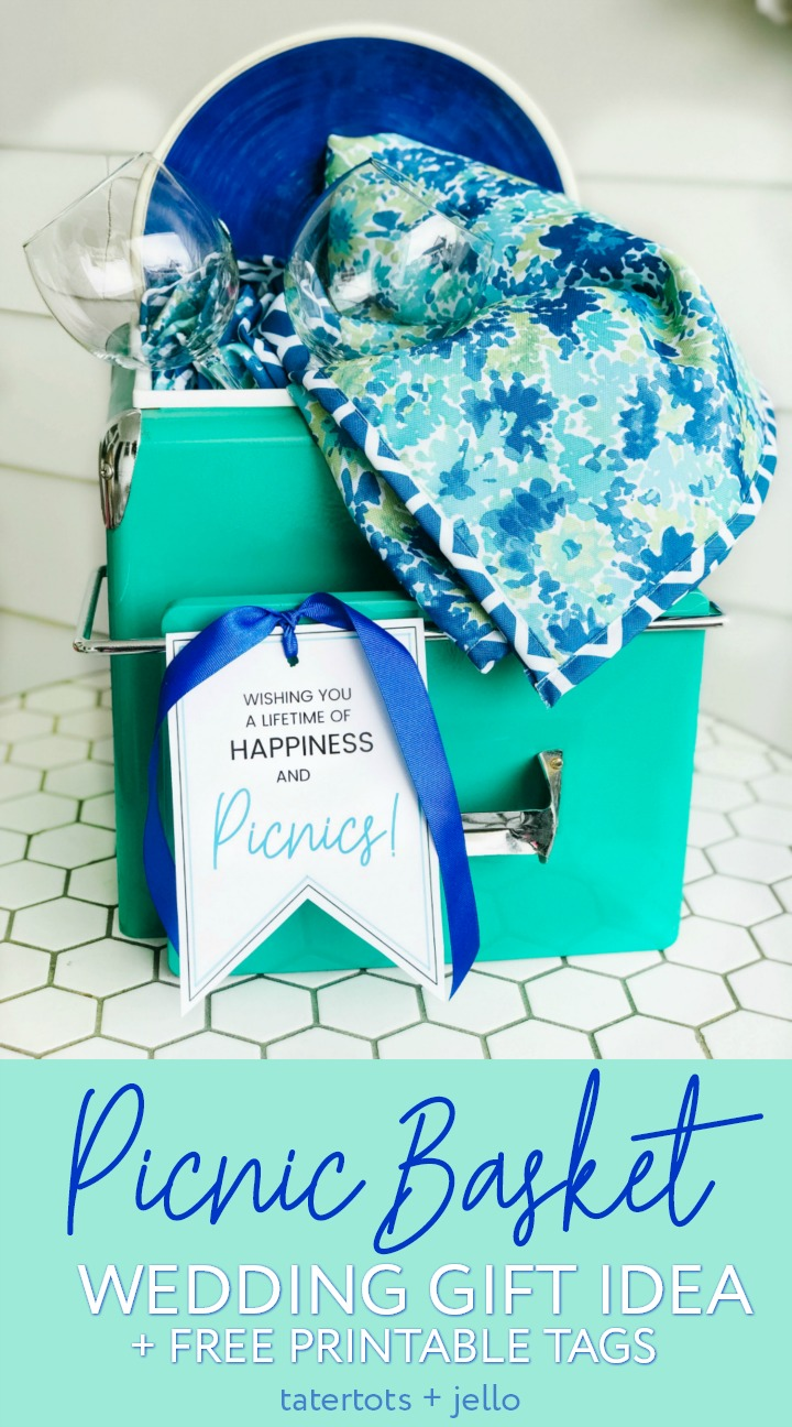 Picnic Basket Wedding Gift Idea and Free Printable Tags