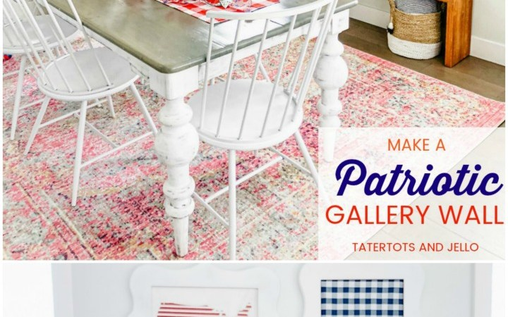 Fourth of July Red White and Blue Gallery Wall DIY