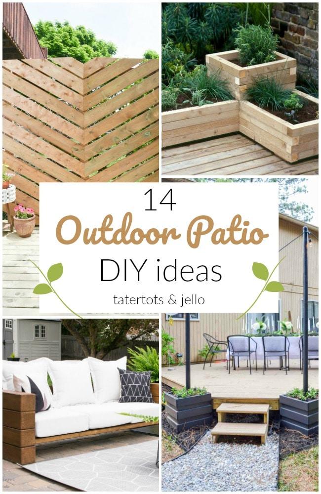 14 outdoor patio diy ideas to spruce up
