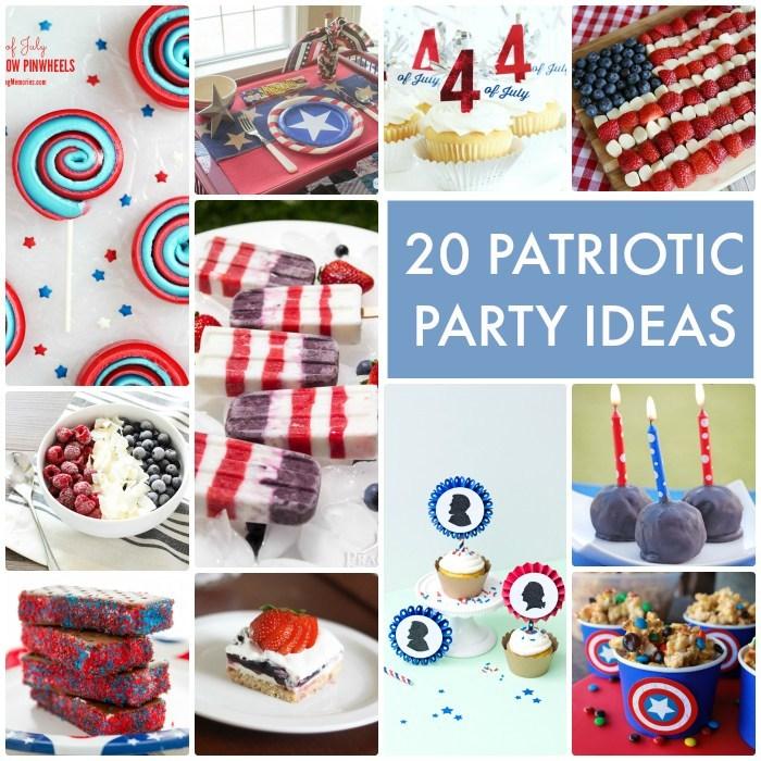 20 Patriotic Party Ideas #FourthofJuly #4thofJuly #patrioticparty #partyfood #partyrecipes #partytray