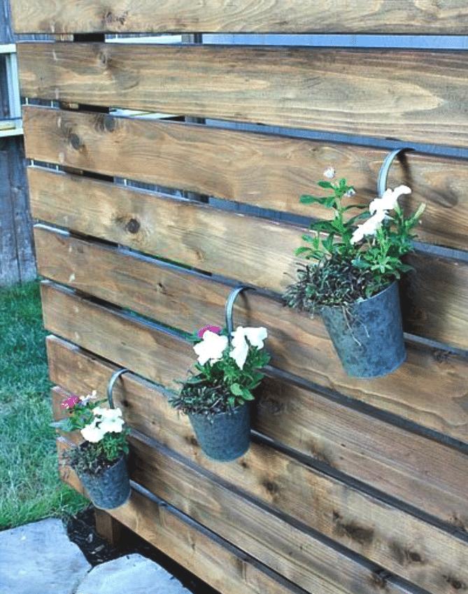 DIY Garden Slat Wall @ Taryn Whiteaker