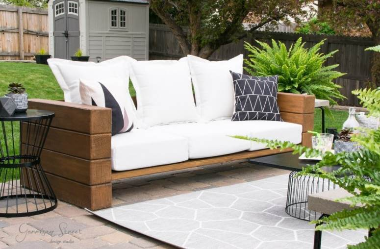 DIY Outdoor Sofa Tutorial @ Garrison Street Design Studio