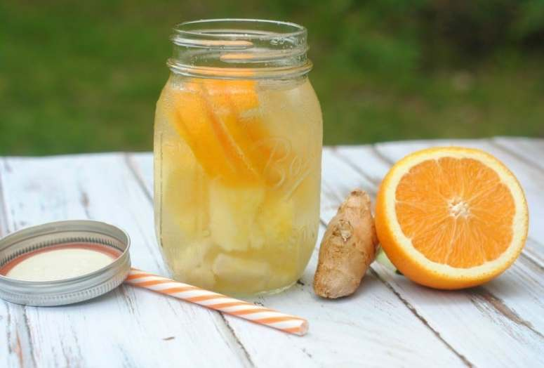 Pineapple Orange Ginger Infused Water Recipe @ This Mama Loves