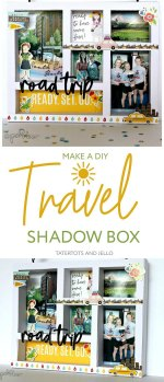 How to Make a Travel Shadow Box Photo Frame!