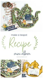 Teapot Recipe Mini Album – Handmade Gift Idea!