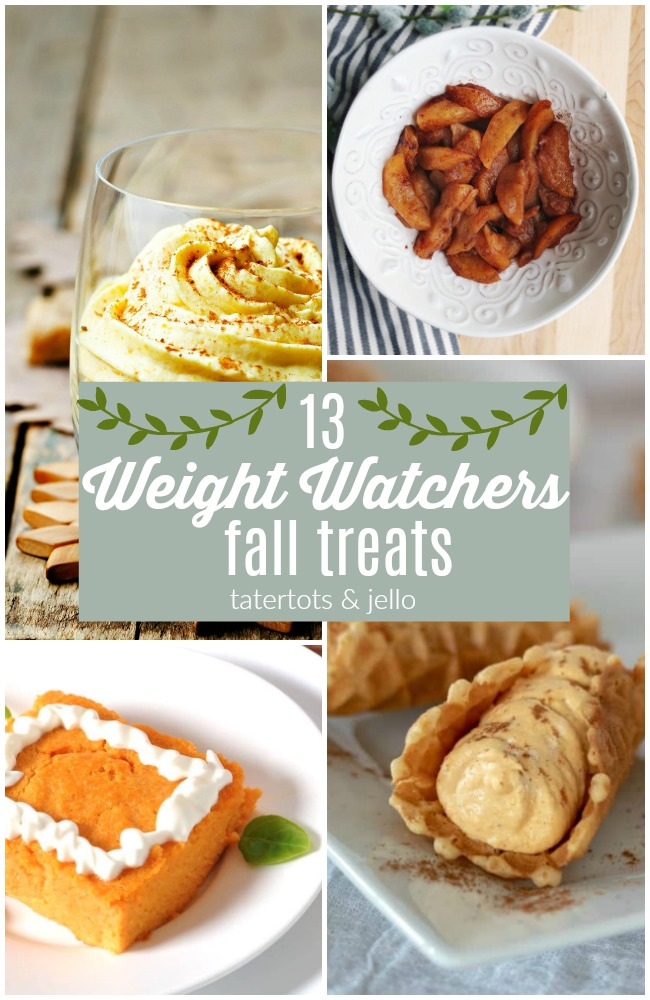 13 Weight Watchers Fall Treats! Just because you are watching what you eat doesn't mean you can't enjoy the joys of Fall treats! Check out these 13 delicious and healthier dessert options!