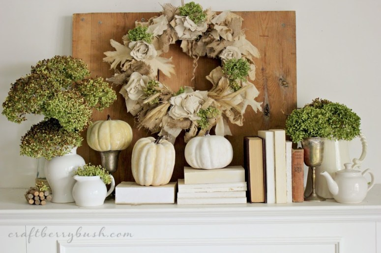 Fall Mantel @ Craft Berry Blush