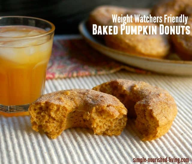 Weight Watchers Baked Pumpkin Donuts - 5 Weight Watchers Freestyle Smartpoints @ Simple Nourished Living
