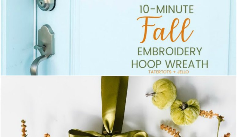 Make a Fall Embroidery Hoop Wreath!