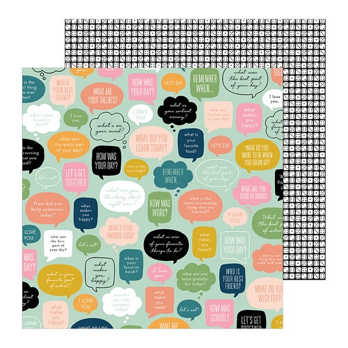 Jen Hadfield This is Family Scrapbook paper
