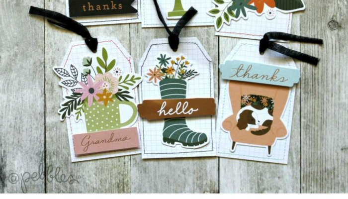 5-Minute Handmade Gift Tags with Stitched Edges!