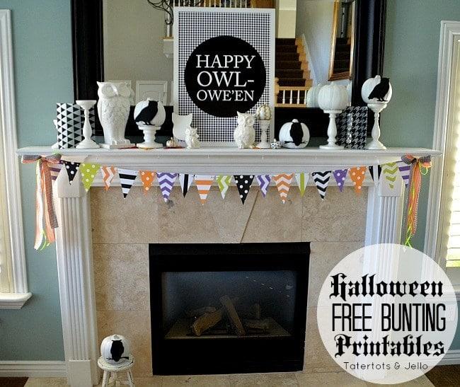 Free Halloween Pennant Printables
