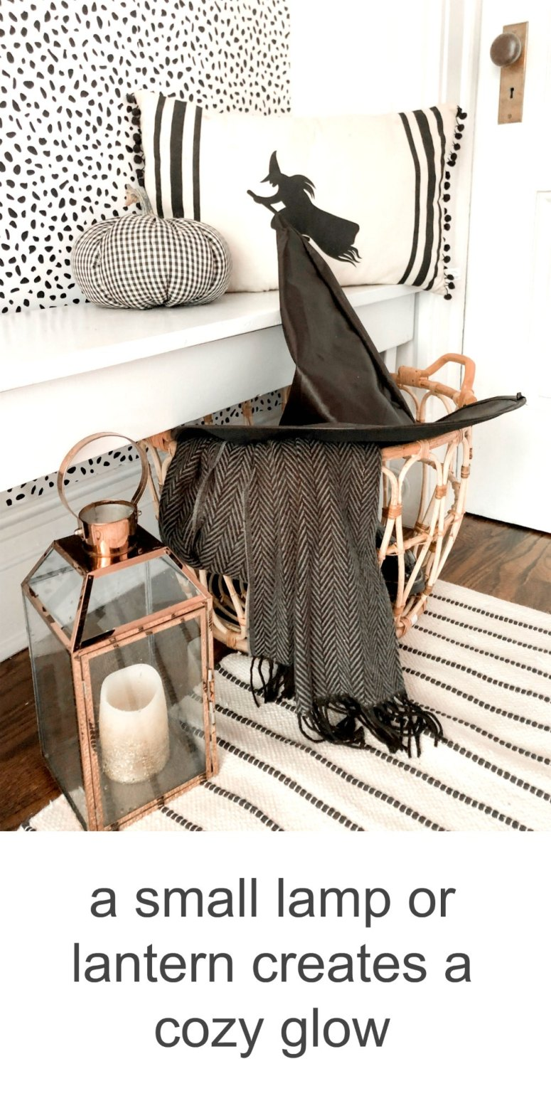 6 Ways to Create a Modern Farmhouse Halloween Entryway. Just because a space is small, doesn't mean it can't be BIG on style. Use removable wallpaper, spooky accents and an over-sized print to create a delightful Halloween space!