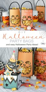 DIY Halloween Pumpkin Paper Party Bags