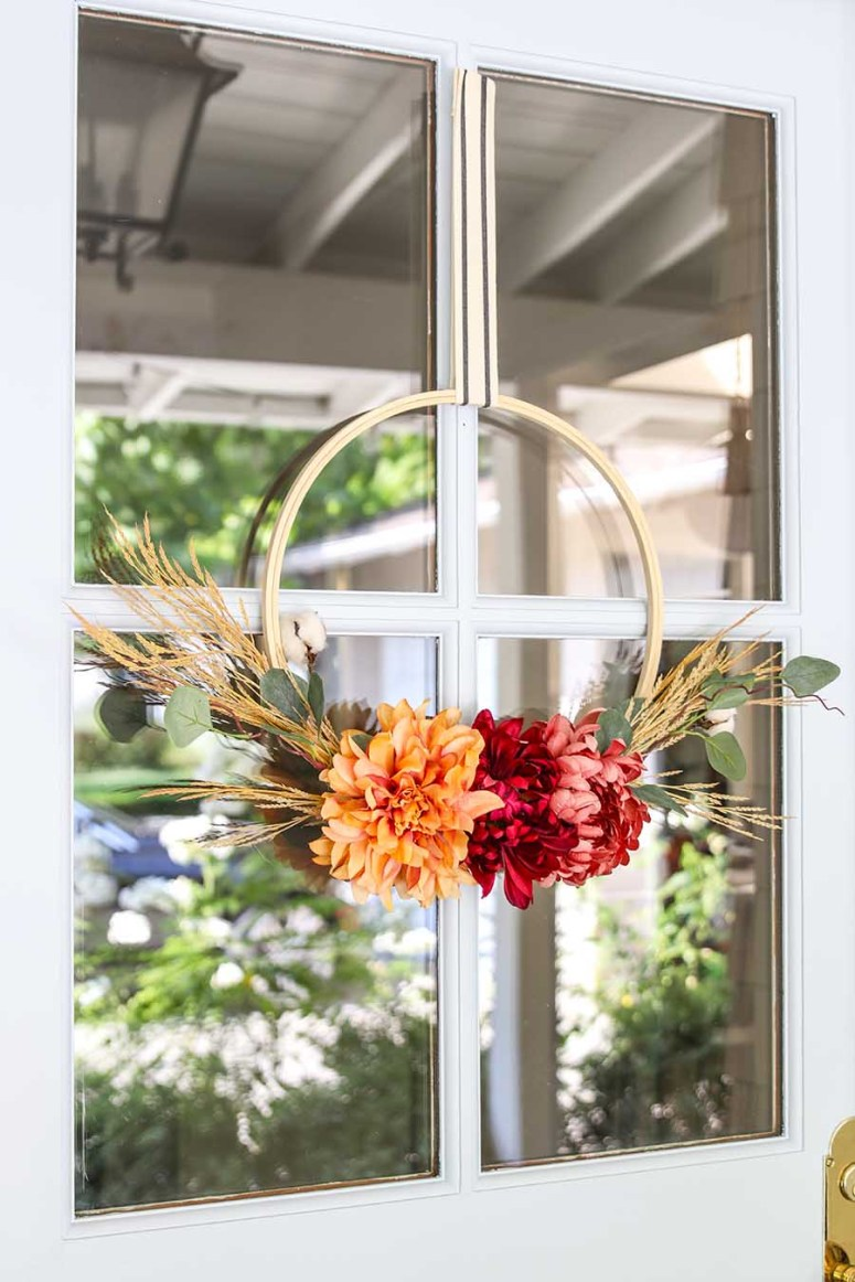 fall hoop wreath @ modern home glam