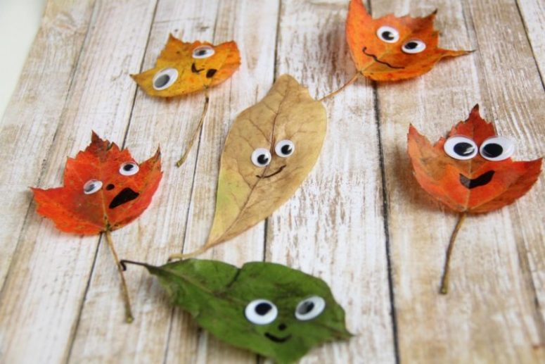 Cute Leaf People Fall Craft for Kids @ Hands On As We Grow