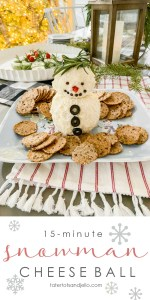 15-Minute Snowman White Cheese Ball Recipe