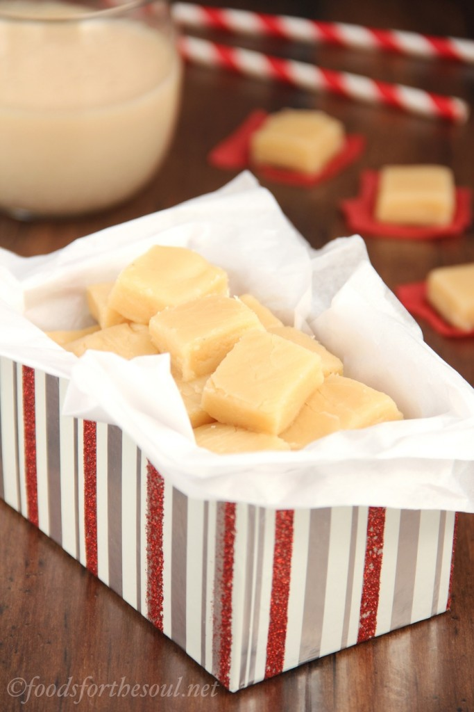 Skinny Eggnog Fudge @ Amy's Healthy Baking
