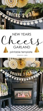 DIY New Years Cheers Garland and Printable Template